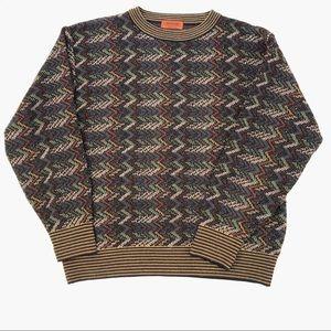 Missoni Chevron Multicolor Crewneck Sweater